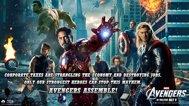 Avengers Poster about Fighting Taxes
